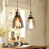 Vintage E27 Chandelier Pendant Light Industrial Retro Loft Glass Ceiling Lamp Shade AC220V
