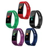 [Rilevatore di temperatura] Bakeey Y5 Smartband con schermo a colori Cuore Monitoraggio dell'attività della pressione sanguigna Idoneità Tracker Smart Watch
