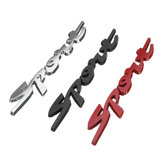 3D Chrome Sport Logo Embleem Badge Metalen Stickers Sticker Rood / Zilver / Zwart voor Auto Motor Racing