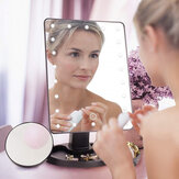 22 LED Lighted Vanity لمس شاشة 360 ° Rotating Makeup LED Mirrors