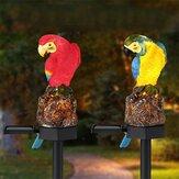 Солнечный приведенный в действие попугай LED Пейзаж Лампа Водонепроницаемы Сад На открытом воздухе Path Light