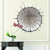 MiicoYaratıcı3DYuvarlakKırıkDuvar PVC Çıkarılabilir Ev Odası Dekoratif Duvar Kapı Dekor Sticker