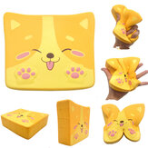 Kiibru Dog Puppy Toast Squishy 14*11.5*4CM Licensed Slow Rising Soft Giant Toy With Packaging