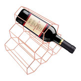 Creative Triangle 6 Bottle Wine Shelf Rack Organizer Storage Holder Home Kitchen Bar Decor