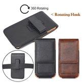 Saco da cintura do slot de placa carteira de couro universal com clip rotativo para o telefone 5.0-6.3 polegadas