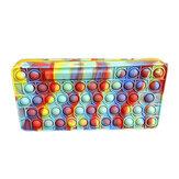 1 szt. Bubble sensoryczny piórnik Colorful wyciśnij sensoryczne zabawki antystresowe silikonowe piórnik typu fidget przenośne dla dzieci szkolne prezenty sezonowe