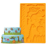 3D Lace Zoo Silicone Embossing Mould Animal Jungle World Fondant Cake Mold