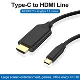 Bakeey USB-C 3.1 to HDMI Cable 4K 60Hz USB Type C to HDMI Computer Monitor Line