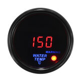 2 '' 52mm 20-150 ℃ Watertemperatuurmeter Digitale LED-display Zwarte gezichtssensor