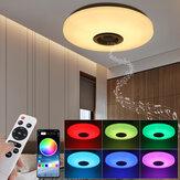 RGBW LED Lâmpada de alto-falante para música com luz de teto Bluetooth APP + Controle Remoto Lâmpada de teto inteligente para quarto