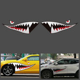150 cm x 50 cm Shark Month Teeth Płyta winylowa Sticker Car Body Exterior Scratch Cover Naklejka Wodoodporna