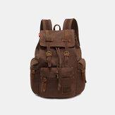 Męska torba podróżna Vinatge Canvas Anti-theft Backpack Torba podróżna