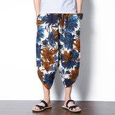पुरुषों की जातीय शैली मुद्रित Baggy हरम पैंट