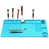 Estação de manutenção de almofada de mesa de reparo de telefone de esteira de solda isolação térmica magnética