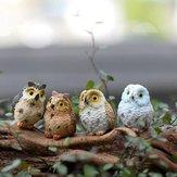 4 Colors Fair Garden Owl Desktop Decorations