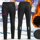 Men Women Thermal Fleece Winter Racing Pants Sportswear Reflective Trousers Waterproof