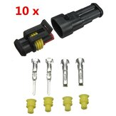 10 Kits 2Pin Way Sealed Waterproof Electrical Wire Connector Plug Set Car Part Accessories