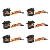 6 PCS EMAX ES3352 12.4g Mini Metal Gear Digital Servo para RC Avião