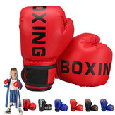 1 Pair PU Leather Children Boxing Gloves Kids Karate Taekwondo Shock Absorption Training Gloves