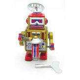 Classic Винтаж Заводной Заводной барабан Играющий робот Воспоминание Дети Детские игрушки из олова