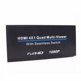 1080PフルHDHDMI4x1クアッドマルチビューアーHDスプリッタースクリーン4ウェイシグナルスイッチャー