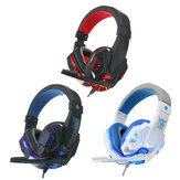 USB 3.5mm LED Surround Stereo Gaming Headset Headbrand Headphone Dengan Mic