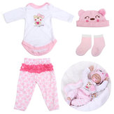 Pink Doll Clothes Set för 22inch Reborn Baby Doll