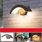 15W LED al aire libre Pared de luz Lámpara Iluminación para el hogar con detector de movimiento Antracita