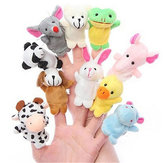 Farm Zoo Animal Finger Puppets Stuffed Plush Toys Bedtime Story Fairy Tale Fable Boys Girls Party To