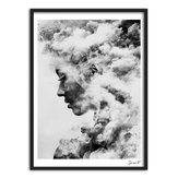 Modern Girl Portrait Smoky Canvas Art Poster Painting Wall Picture Home Decorations
