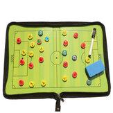 Portatile di cuoio della cartella del bordo di tattica di calcio di addestramento magnetico di calcio pro