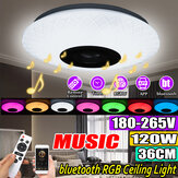 120W RGB musica colorata LED plafoniera dimmerabile lampada bluetooth + controllo APP