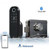 Bloqueio de porta com impressão digital Bakeey senha bluetooth Cartão Rfid Bloqueio eletrônico à prova d'água sem chave Funciona com aplicativo de bloqueio TT