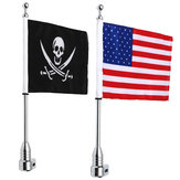 Motorcycle Rear Flag Pole Bike Bagażnik do montażu na stojaku American Skull USA For Honda