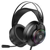 Casque de jeu HP GH10 / GH10GS Unité 50 mm Effet stéréo 360 ° LED Colorful Microphone flexible léger pour PC PS3/4