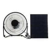 Painel solar de 5W 6V com porta USB de ventilador de refrigeração de 8 polegadas
