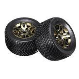 2 STÜCKE Galvanik Reifen für JLB Racing CHEETAH J3 1/10 RC Auto Ersatzteile EC1004
