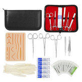 25 In 1 Skin Suture Surgical Training Kit Silicone Pad Needle Scissors Tools Kit