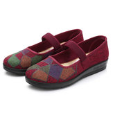 Folkways Elastic Band Slip On Casual Flats Shoes