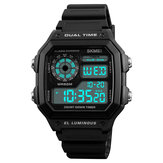 SKMEI 1299 Countdown Alarm Stainless Steel Digital Watch