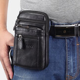 Genuine Leather Waist Bag Multi-pocket Belt Bag Phone Bag Shoulder Bag For Men
