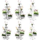 Supporto per fiori multistrato Supporto per orchidea appeso a pavimento semplice con balcone in plastica a terra