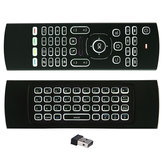 MX3 Wireless QWERTY White Backlit 2.4GHz Keyboard Air Mouse with Microphone For TV Box MINI PC