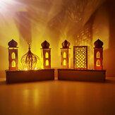 DIY LED Light Wooden Eid Mubarak Plaque Ramadan Home Party Ornament