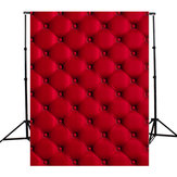 5X7FT 3D Red Wall Cloth Photography Background Backdrop Props for Photo Studio