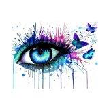 Numaraya Göre Yağlıboya Kit Colorful Gözler Boyama DIY Akrilik Pigment Boyama By Numbers Sanat El Zanaat Malzemeleri Seti