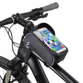 BIKIGHT Bike Bicycle Front Frame Tube Bag Waterproof Touch Screen 6.0'' Phone Case Cycling Bag