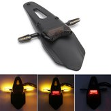12V Motorcycle Enduro LED Rear Fender Brake Tail Light With Turn Signals Universal
