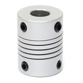 8mm x 10mm Aluminium Flexibele As Koppeling OD19mm x L25mm CNC Stepper Motor Coupler Connector