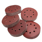100pcs 125mm 8 Holes Abrasive Sand Discs 60-240 Grit Sanding Papers